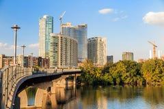Vista di Austin, orizzonte del centro immagini stock libere da diritti