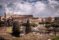 Vista di Autumm del Colosseum fotografia stock libera da diritti