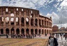 Vista di Autumm del Colosseum fotografie stock libere da diritti