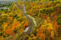 Vista di autunno dal picco Immagini Stock