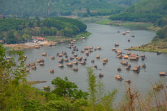 Vista di bambù della casa alta Fotografia Stock