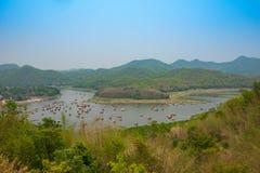 Vista di bambù della casa alta Fotografia Stock Libera da Diritti