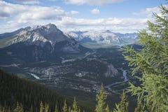 Vista di Banff Fotografie Stock