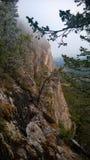 Vista di Banff dalle scogliere della montagna del tunnel Immagine Stock