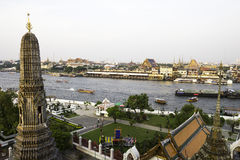 Vista di Bangkok da Wat Arun Fotografia Stock Libera da Diritti