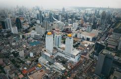 Vista di Bangkok, sopra la vista dalla costruzione più alta della torre II di Baiyoke Immagini Stock Libere da Diritti