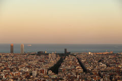 Vista di Barcellona immagine stock libera da diritti