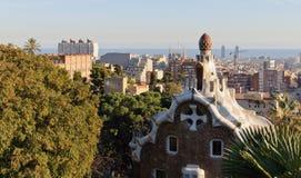 Vista di Barcellona dal Parc Guell Fotografia Stock