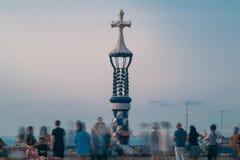 Vista di Barcellona a Parc Guell fotografia stock libera da diritti