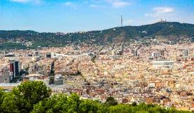 Vista di Barcelone Fotografia Stock Libera da Diritti