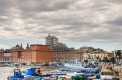 Vista di Bari. Apulia. Immagini Stock Libere da Diritti