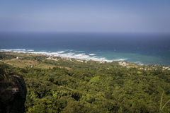 Vista di Bathseba, delle Barbados e della campagna circostante da Abov Fotografia Stock