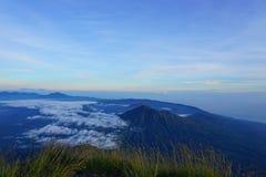 Vista di Batur del supporto Fotografia Stock