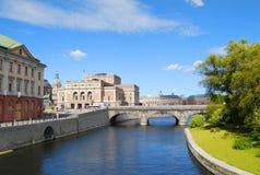 Vista di bella architettura di Stoccolma fotografie stock libere da diritti