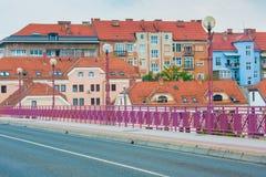 Vista di bella città di Maribor Fotografia Stock
