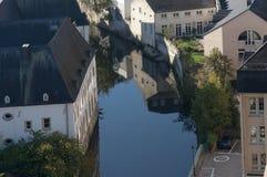 Vista di bellezza della città di Lussemburgo Fotografia Stock