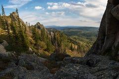 Vista di bellezza in montagne di Altai Fotografie Stock Libere da Diritti