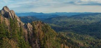 Vista di bellezza in montagne di Altai Fotografia Stock Libera da Diritti