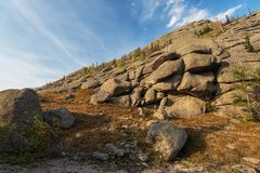 Vista di bellezza in montagne di Altai Immagine Stock Libera da Diritti