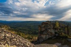 Vista di bellezza in montagne di Altai Immagini Stock Libere da Diritti