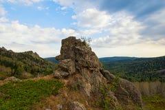 Vista di bellezza in montagne di Altai Fotografia Stock