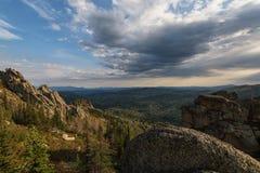 Vista di bellezza in montagne di Altai Fotografie Stock