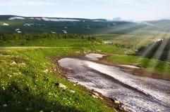 Vista di bellezza - paesaggio delle montagne Immagine Stock