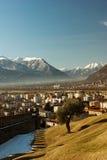 Vista di Bellinzona Fotografia Stock Libera da Diritti