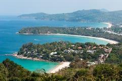 Vista di bello paesaggio e tropicale superiori Vista sul mare, vista del mare Fotografia Stock Libera da Diritti