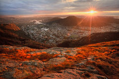 Vista di Bergen Fotografie Stock
