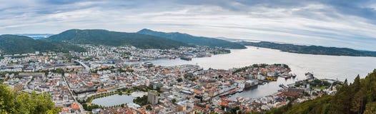 Vista di Bergen, Norvegia fotografia stock