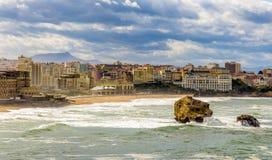 Vista di Biarritz - la Francia Fotografia Stock Libera da Diritti