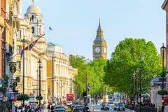 Vista di Big Ben da Trafalgar Square fotografia stock
