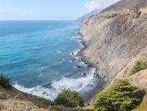 Vista di Big Sur, punto stracciato, California Immagini Stock Libere da Diritti