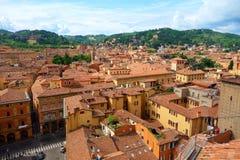 Vista di Bologna, Italia fotografia stock