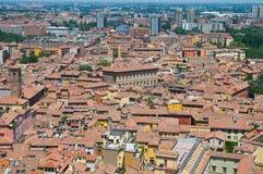 Vista di Bologna L'Emilia Romagna L'Italia Fotografie Stock