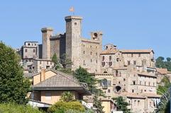 Vista di Bolsena. Il Lazio. L'Italia. Fotografia Stock Libera da Diritti