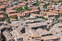 Vista di Bolsena. Il Lazio. L'Italia. Immagini Stock