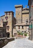 Vista di Bolsena. Il Lazio. L'Italia. Fotografie Stock Libere da Diritti