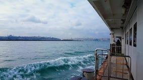 Vista di Bosphorus dal traghetto video d archivio