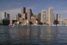 Vista di Boston dal porto 3 Immagine Stock Libera da Diritti