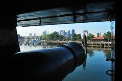 Vista di Boston dalla costituzione fotografia stock