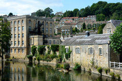 Vista di Bradford-su-Avon, Wiltshire, Regno Unito fotografie stock libere da diritti