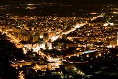 vista di Brasov-notte Immagini Stock