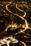 vista di Brasov-notte Fotografia Stock