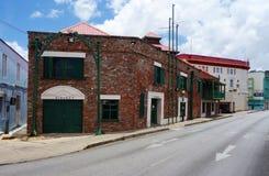 Vista di Bridgetown del centro, della città capitala e più grande in Barbados Fotografia Stock