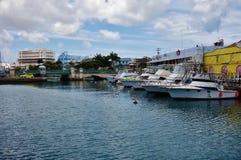 Vista di Bridgetown del centro, della città capitala e più grande in Barbados Immagini Stock Libere da Diritti