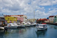 Vista di Bridgetown del centro, della città capitala e più grande in Barbados Fotografia Stock Libera da Diritti