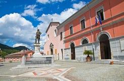 Vista di Brienza La Basilicata L'Italia Fotografia Stock