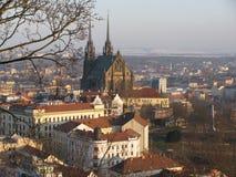 Vista di Brno sul pilberkdi Å Fotografia Stock